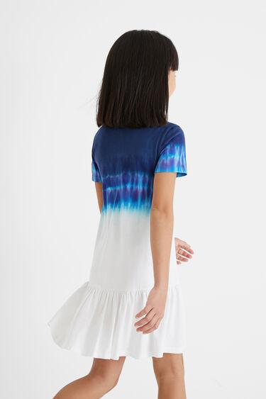 Cotton dress flounce hem | Desigual