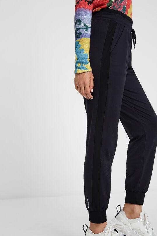 Soepelvallende broek met koord | Desigual