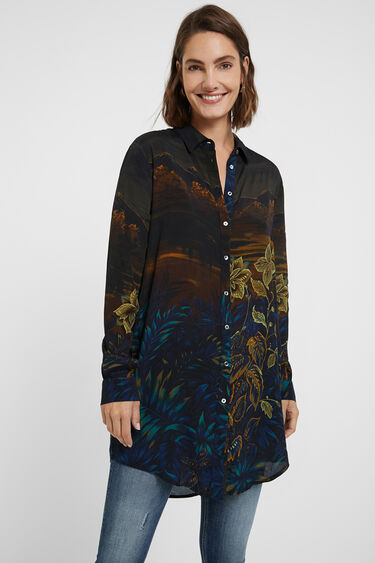Long Hawaiian shirt | Desigual