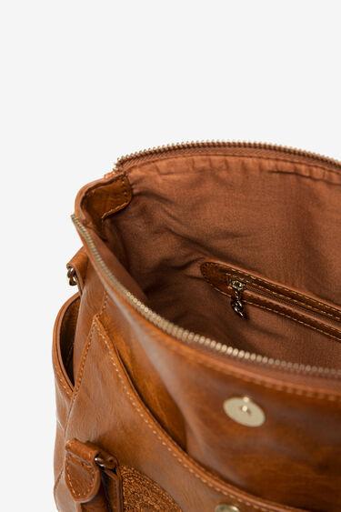 Bestickte Tasche in Lederoptik | Desigual