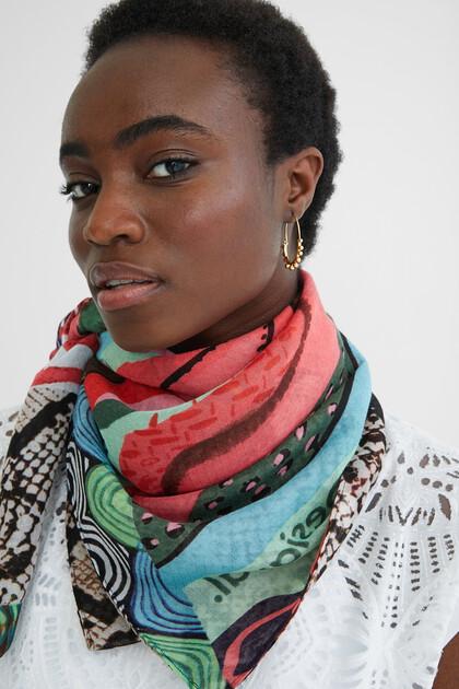 Rectangular exotic foulard