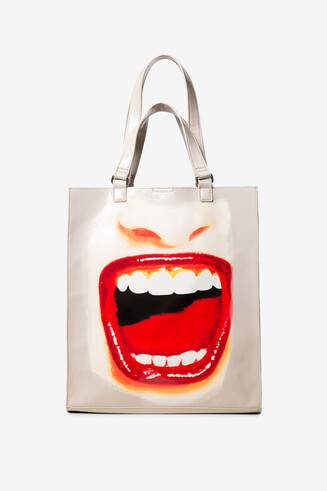 Leather effect bag lips