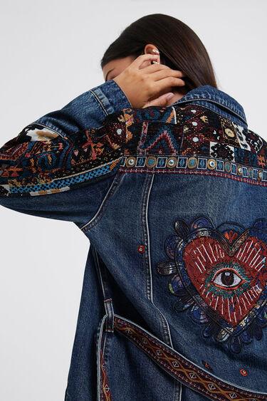 Embroidered denim parka | Desigual