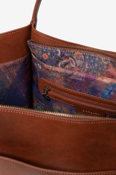 Shoulder Bag mit Prägungen und Nieten | Desigual