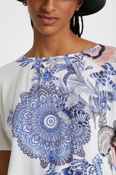 T-shirt met bloemenprint | Desigual