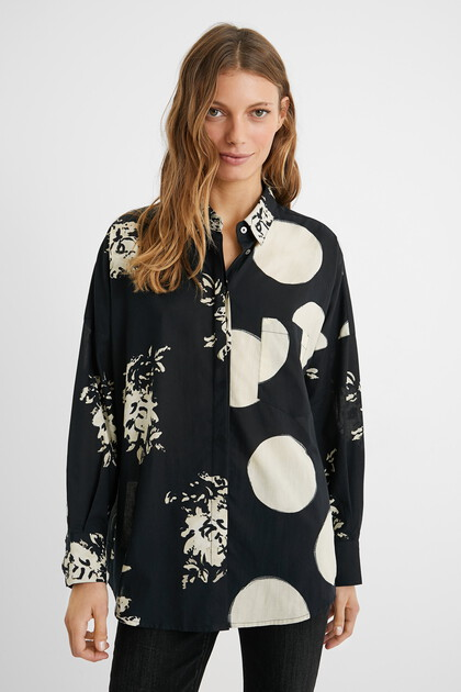 Oversize shirt double print