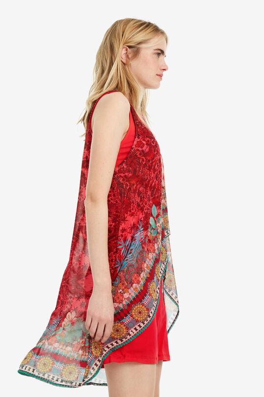 Robe fleurs et superpositions Monique | Desigual