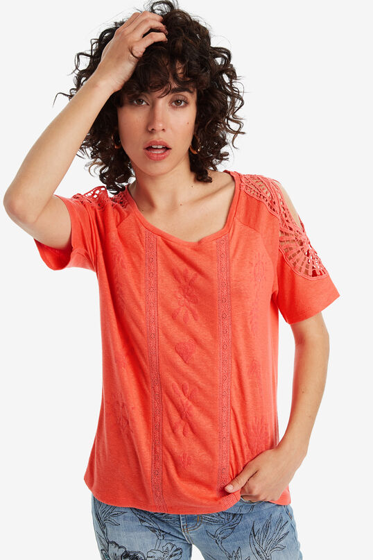 T-Shirt mit Häkelei | Desigual