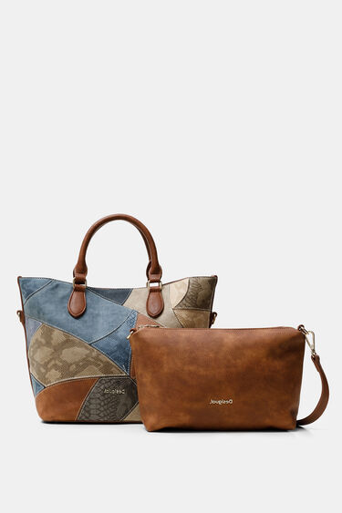 Bolso shopping patch reptil | Desigual