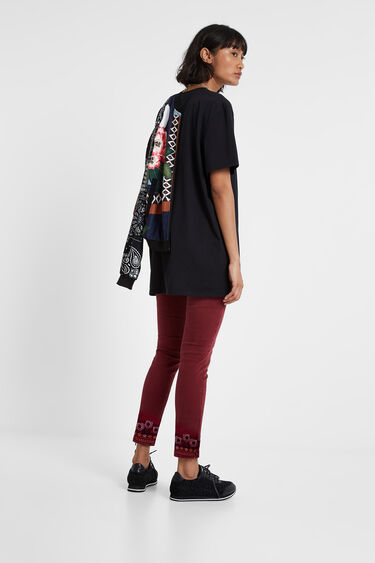Skinny floral embroidery jeans | Desigual