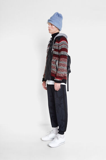 Wool and leather sweater | Desigual