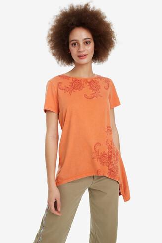 Asymmetrisches Shirt in Orange Munich