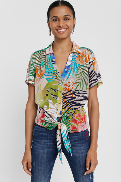 Camisa multicolor hawaiana