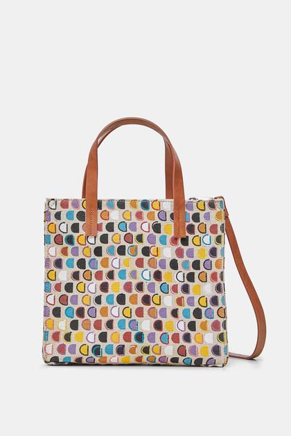 Mini bolso shopper logo