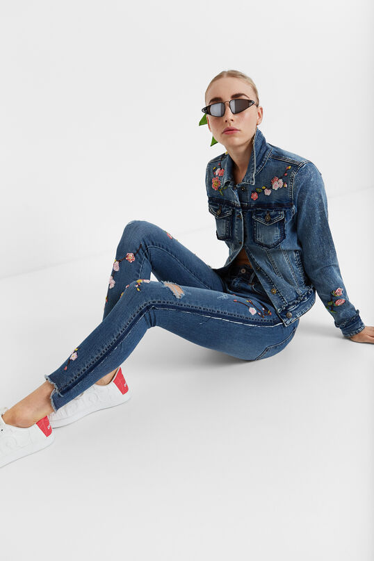 Cropped denim trousers | Desigual