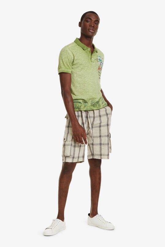 Faded Green Polo Shirt Eros | Desigual