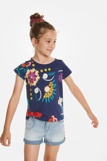 T-shirt floral print with openings | Desigual