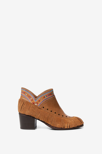 Bottines boho franges
