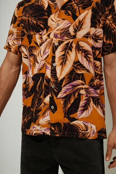 Kurzärmliges, tropisches Hemd   Desigual