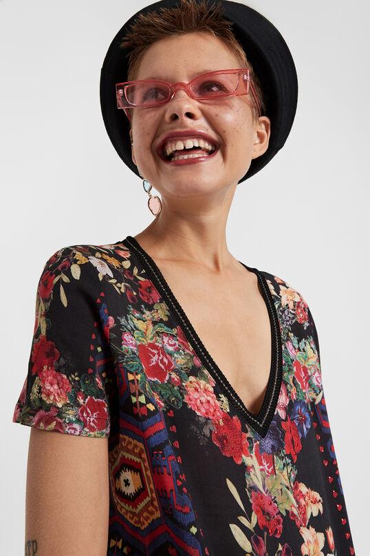 Samarreta coll en punta floral   Desigual