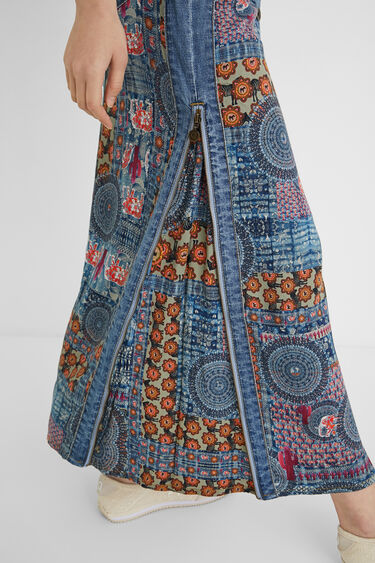 Lange spijkerrok met mandala's | Desigual