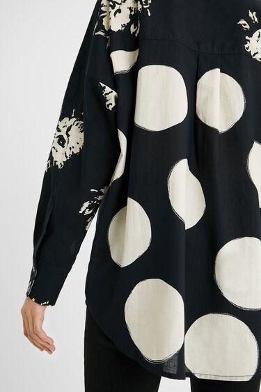 Oversize-Bluse mit doppeltem Muster | Desigual