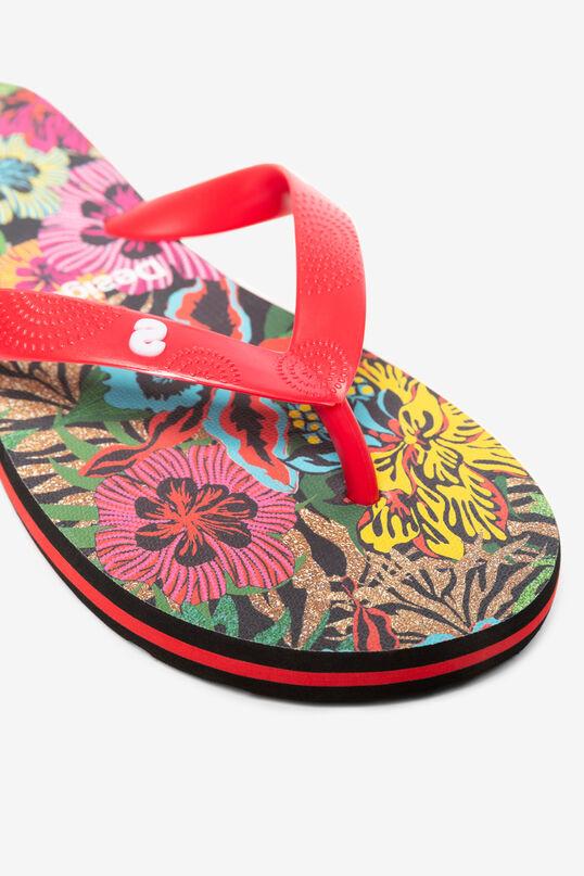 Black Flip-Flops Tropical | Desigual