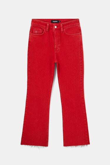 Spodnie do kostki z rozszerzanymi nogawkami | Desigual