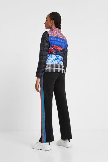 Patch prints eco padded jacket | Desigual