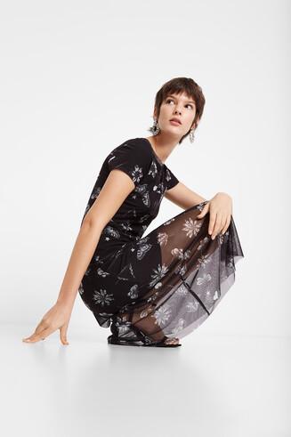 Vestit de doble capa de tul amb missatge