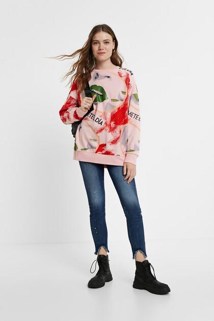 Sweat-shirt oversize 100% coton