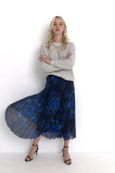 Pleated mini skirt mandalas print   Desigual