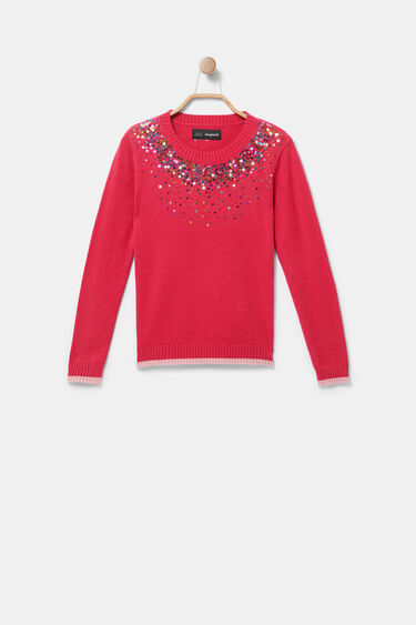 Jumper neck sequins | Desigual