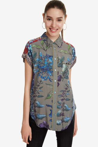 Floral Print Short-Sleeve Shirt Naiara