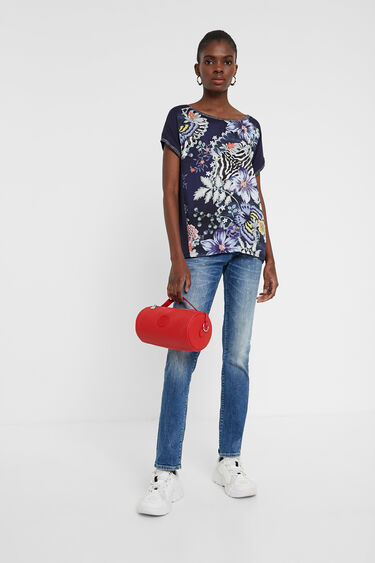 Short sailor floral and animal T-shirt | Desigual