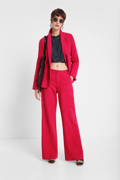 Culotte-broek met mandala's aan de zijkant