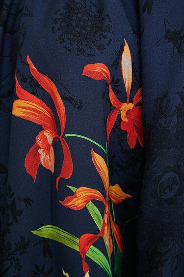 Viskose-Bluse mit U-Boot-Ausschnitt | Desigual