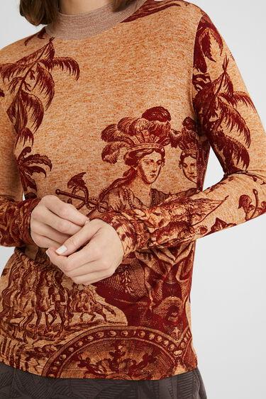Bluzka o dopasowanym kroju w stylu arty | Desigual