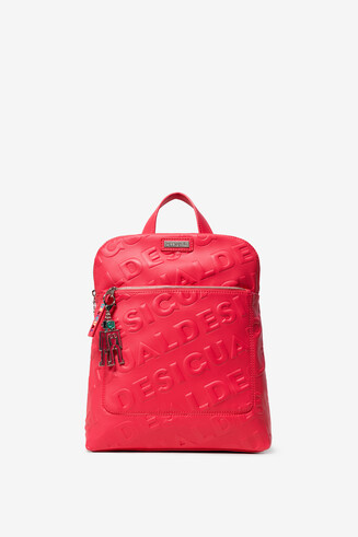 Textured Logo Pink Backpack Nanaimo