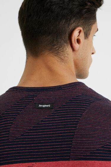 T-shirt jacquard boutons | Desigual