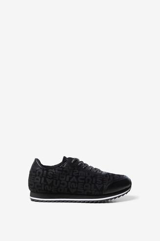 Black logomania sneakers