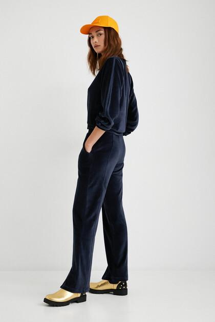 Pantalon large coton ouaté
