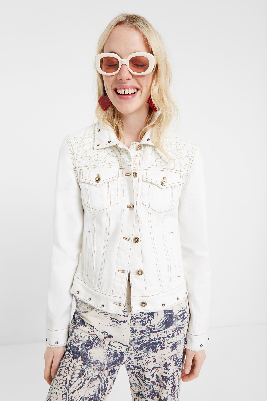 desigual giacca bianca jeans