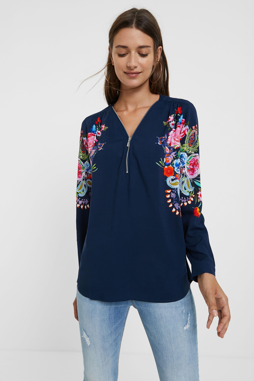 Blusa zip floreale | Desigual