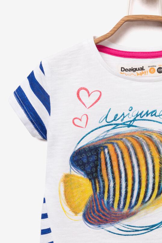 T-shirt poisson à paillettes | Desigual