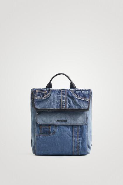 Quadratischer Jeans-Rucksack