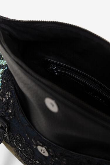 Mala com aba e patchwork de tecidos e texturas | Desigual