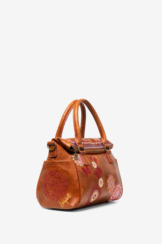 Camel Embroidered Bag Chandy Loverty   Desigual