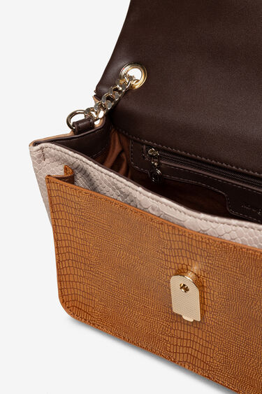 Boho bag reptile and floral patch | Desigual