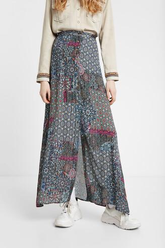 Long skirt floral mandala